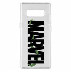 Чехол для Samsung Note 8 Marvel logo and vine
