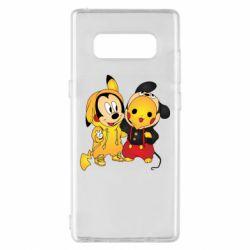 Чехол для Samsung Note 8 Mickey and Pikachu
