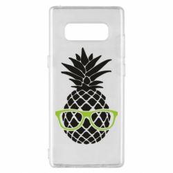 Чехол для Samsung Note 8 Pineapple with glasses