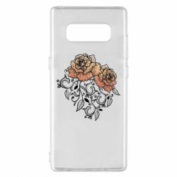 Чохол для Samsung Note 8 Roses with patterns