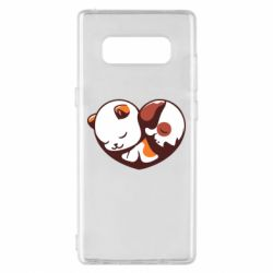 Чохол для Samsung Note 8 Сердечко. Котик и собачка