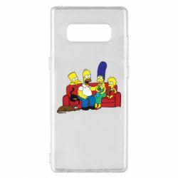 Чехол для Samsung Note 8 Simpsons At Home