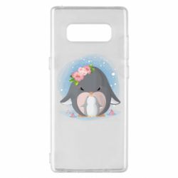 Чехол для Samsung Note 8 Two cute penguins