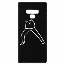 Чохол для Samsung Note 9 Cat in pants