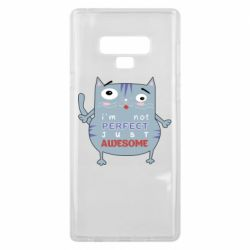 Чехол для Samsung Note 9 Cute cat and text