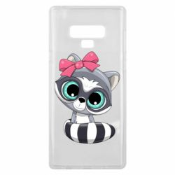 Чехол для Samsung Note 9 Cute raccoon