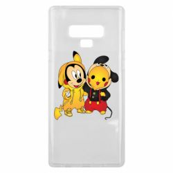 Чехол для Samsung Note 9 Mickey and Pikachu