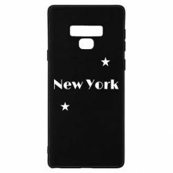 Чехол для Samsung Note 9 New York and stars