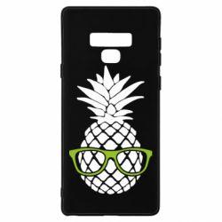 Чехол для Samsung Note 9 Pineapple with glasses