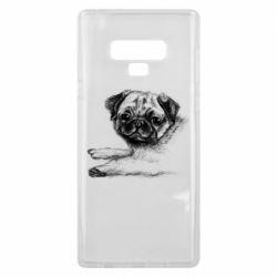 Чохол для Samsung Note 9 Pug drawing