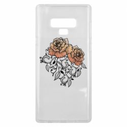 Чохол для Samsung Note 9 Roses with patterns