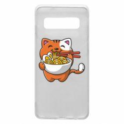 Чохол для Samsung S10 Cat and Ramen