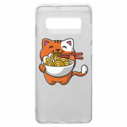 Чохол для Samsung S10+ Cat and Ramen