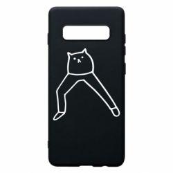 Чохол для Samsung S10+ Cat in pants