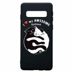 Чехол для Samsung S10 Cats and love