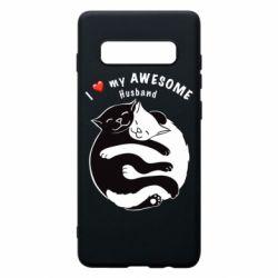 Чехол для Samsung S10+ Cats and love