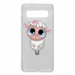 Чехол для Samsung S10 Cute lamb with big eyes