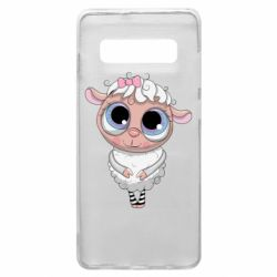 Чехол для Samsung S10+ Cute lamb with big eyes