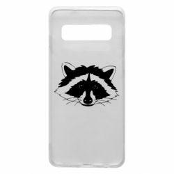 Чохол для Samsung S10 Cute raccoon face