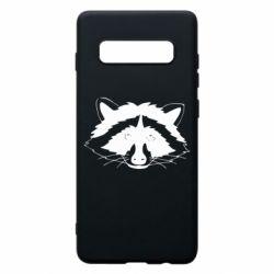 Чохол для Samsung S10+ Cute raccoon face