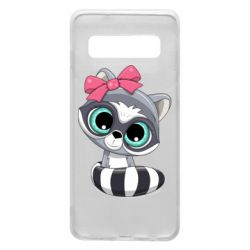 Чехол для Samsung S10 Cute raccoon