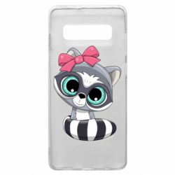 Чехол для Samsung S10+ Cute raccoon