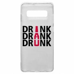 Чехол для Samsung S10+ Drink Drank Drunk