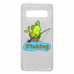 Чехол для Samsung S10 Fish Fishing