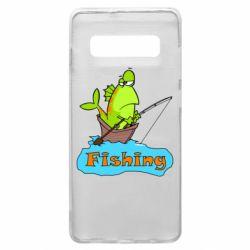 Чехол для Samsung S10+ Fish Fishing