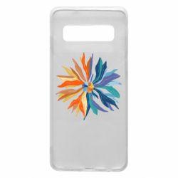 Чохол для Samsung S10 Flower coat of arms of Ukraine