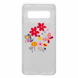 Чехол для Samsung S10 Flowers and Butterflies