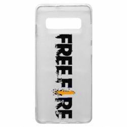 Чехол для Samsung S10+ Free Fire spray