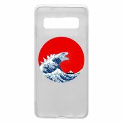 Чохол для Samsung S10 Godzilla Wave