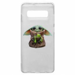 Чохол для Samsung S10+ Grogu and Kermit
