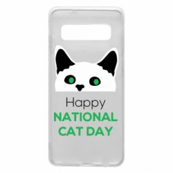 Чехол для Samsung S10 Happy National Cat Day