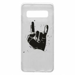 Чехол для Samsung S10 HEAVY METAL ROCK