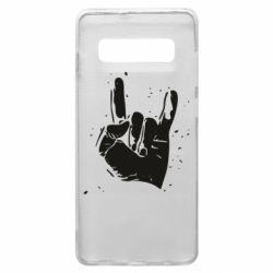 Чехол для Samsung S10+ HEAVY METAL ROCK