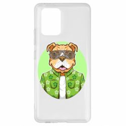 Чохол для Samsung S10 A dog with glasses and a shirt