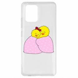 Чехол для Samsung S10 Lite A pair of chickens and a blanket