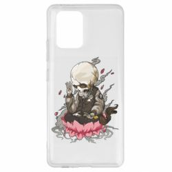 Чехол для Samsung S10 Lite A skeleton sitting on a lotus