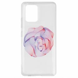 Чехол для Samsung S10 Lite Abstract rose from the lines