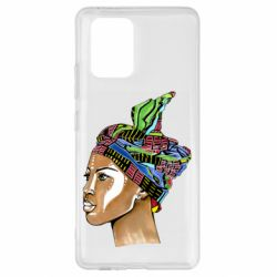 Чохол для Samsung S10 African girl in a color scarf