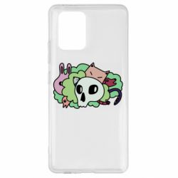 Чехол для Samsung S10 Lite Animals and skull in the bushes
