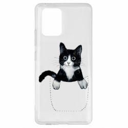 Чехол для Samsung S10 Lite Art cat in your pocket