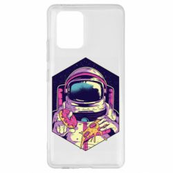 Чехол для Samsung S10 Lite Astronaut with donut and pizza