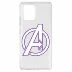Чехол для Samsung S10 Lite Avengers and simple logo