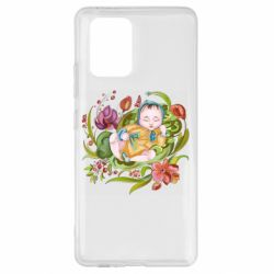 Чехол для Samsung S10 Lite Baby and flowers