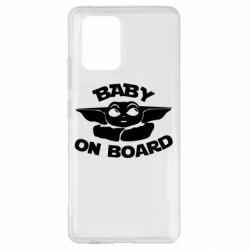 Чехол для Samsung S10 Lite Baby on board yoda