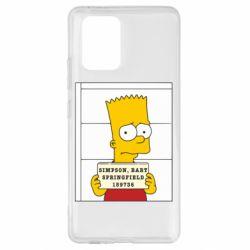 Чехол для Samsung S10 Lite Барт в тюряге