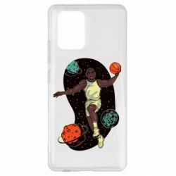 Чехол для Samsung S10 Lite Basketball player and space
